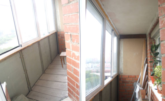 Ремонт на балконе дешево и своими руками