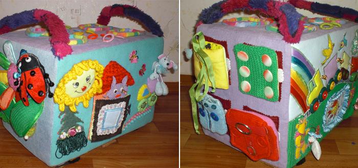 106Развивающая коробка своими руками для детей