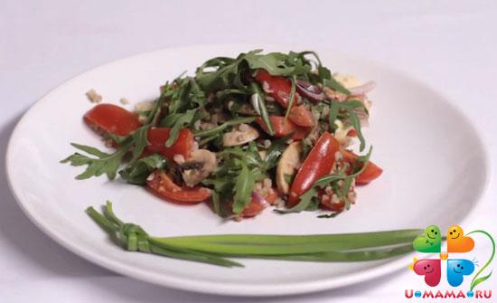 Салат с гречкой (рецепт с видео)