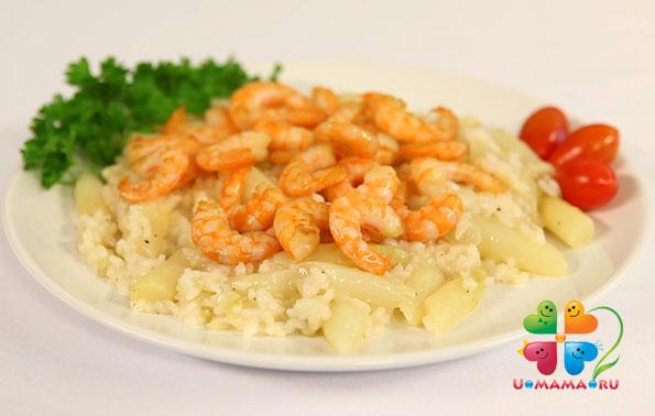 Рис с креветками и спаржей. По мотивам средиземноморской кухни (рецепт с видео!)