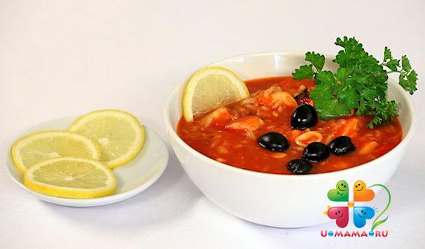 Ужин в День Валентина. Суп томатный с морепродуктами (рецепт с видео)