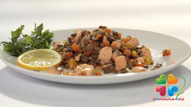 Что приготовить на ужин? Рагу из лосося с чечевицей! (рецепт с видео)