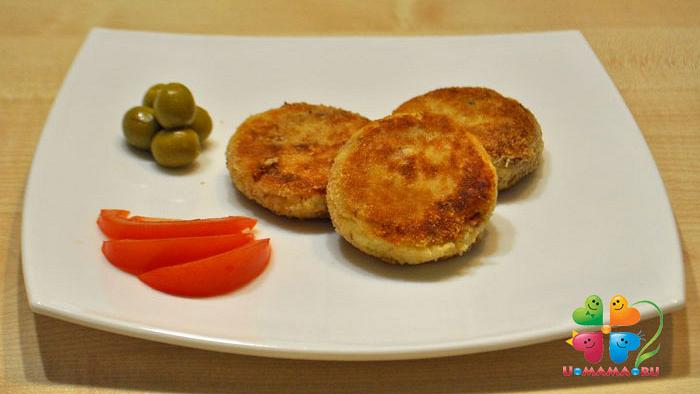 Котлеты картофельные с тунцом