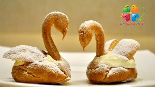 К Дню Валентина и не только :) Пирожное заварное «Лебеди»