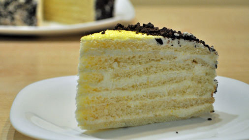 Торт «Неженка», с кремом на манной крупе