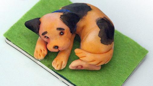 Магнит-собака из пластика своими руками