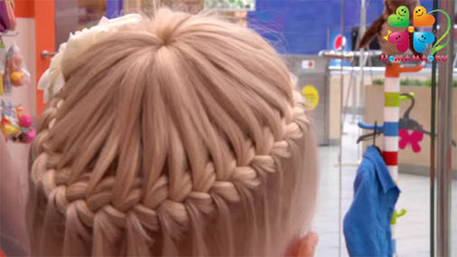 """""""Корзинка"""" на тонкие короткие волосы"""