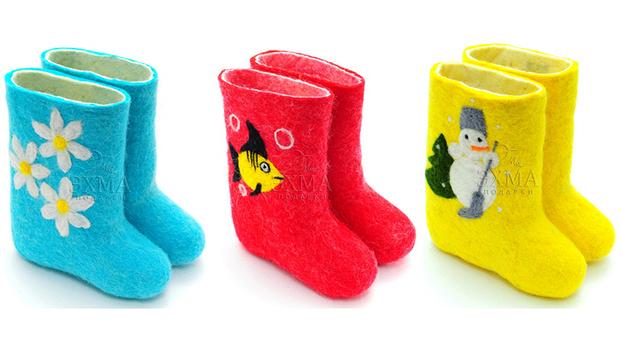 Утепляем детские ножки. Дизайнерские валенки ручной работы