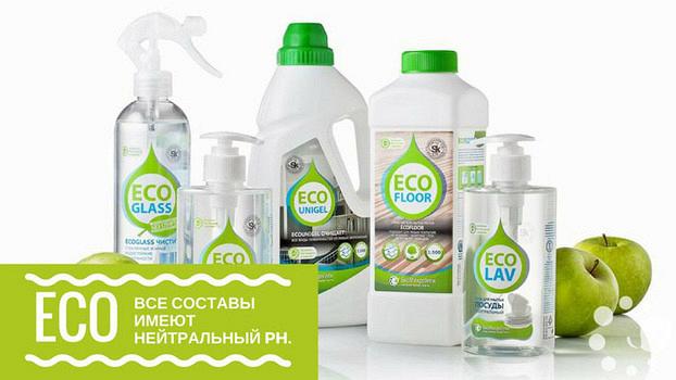 Безопасная уборка с моющим средством EcoFloor