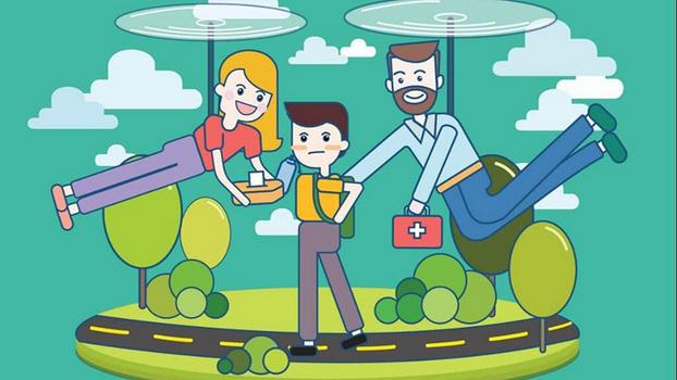 Родитель-вертолет - опасная для ребёнка разновидность!