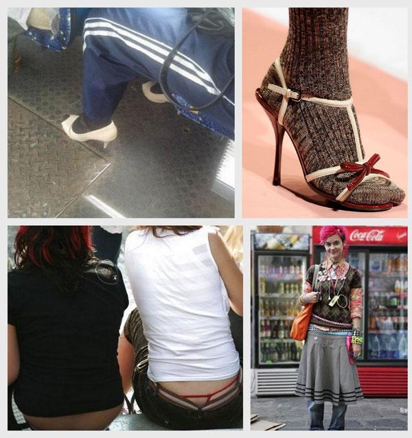 Девушки под юбкой прозрачные трусики
