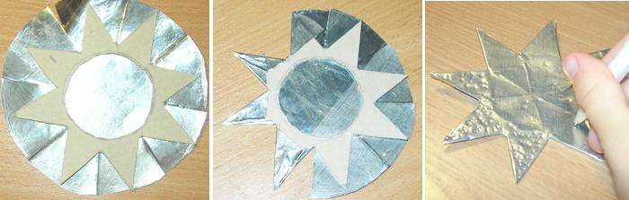 Поделки звезда из картона