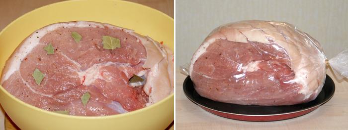 Свиной окорок в шкуре на кости рецепт