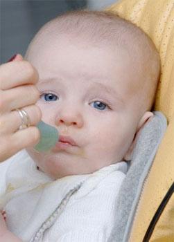 Прикорм ребенка с 5 месяцев нужно начинать постепенно, начиная с 1 - 2 ложечек перед кормлением грудью.