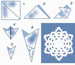 Как сделать из белой бумаги снежинку