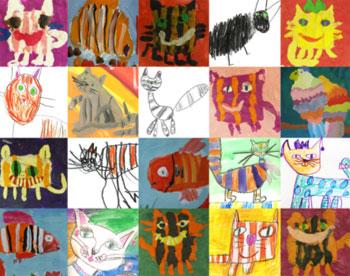 Детские рисунки с котами
