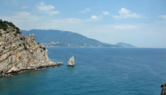 Черное море, вид в сторону Ялты