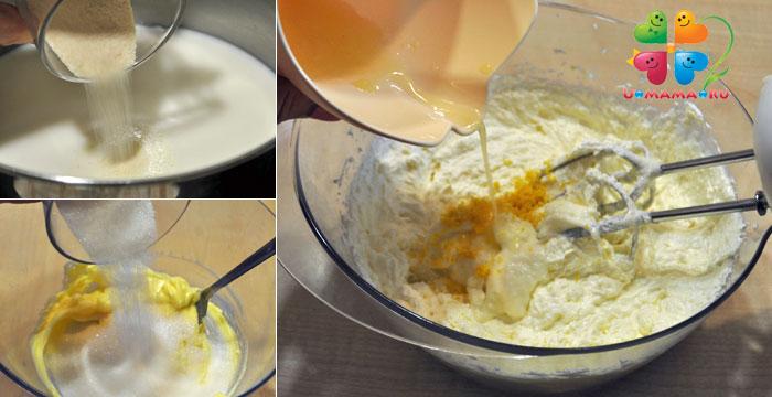 Крем с манки для торта рецепт с фото пошагово