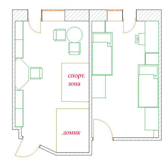 План расстановки мебели в детской комнате. Детская комната. Идеи ...