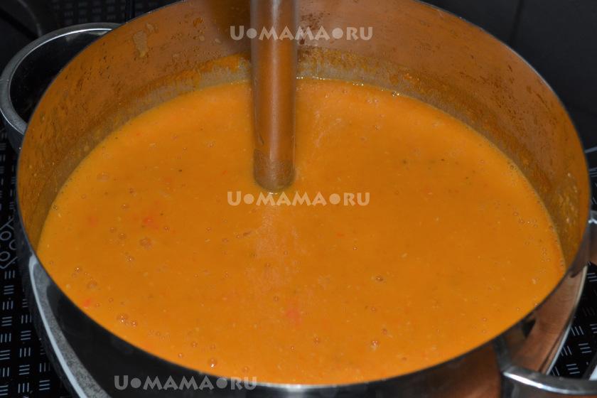 Овощной суп-пюре из чечевицы