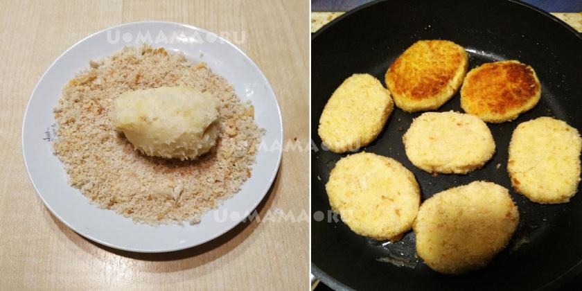 Котлеты картофельные с цветной капустой