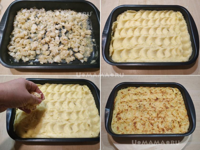 Пирог рыбака: рыбная запеканка с картофельным пюре
