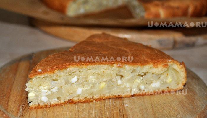пирог с капустой из жидкого теста на кефире рецепт