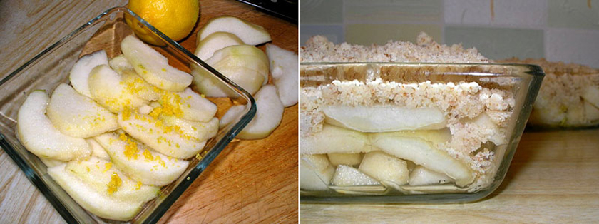 Крамбль: сливовый, грушевый и яблочный