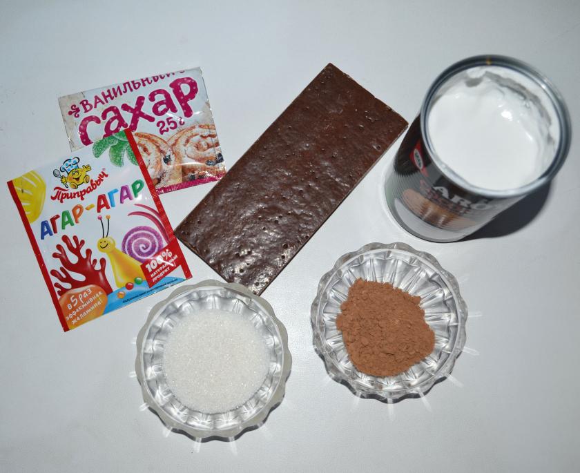 Шоколадно-кокосовый пудинг