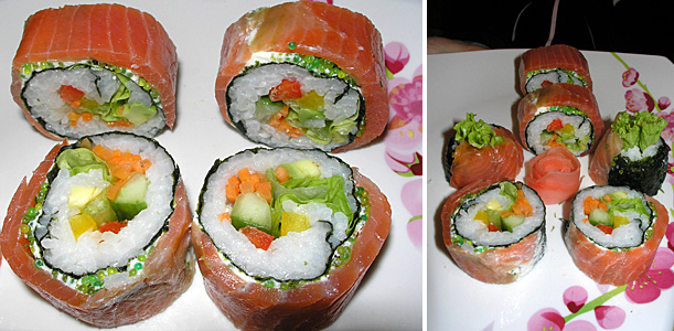 cooking for thick rolls : sushi