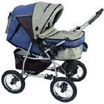 MIKRUS - детские коляски. перекладываемая ручка + спальный мешок для...